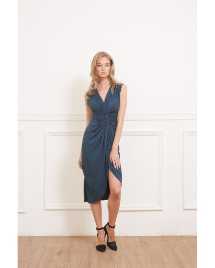 INA DRESS IN TEAL