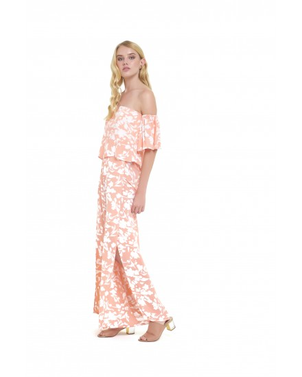ATRANI JUMPSUIT IN FLORAL PEACH