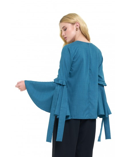 SAVANNAH TOP IN EMERALD