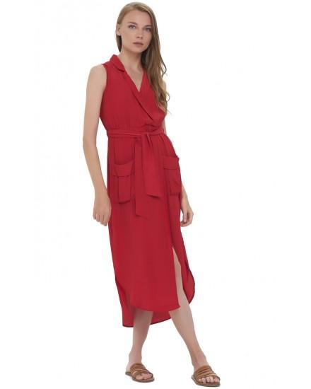 IVY DRESS IN MAROON