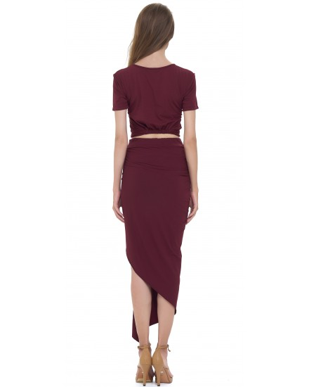 PAIGE SKIRT IN MAROON