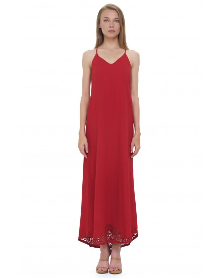 BAHIA DRESS IN MAROON