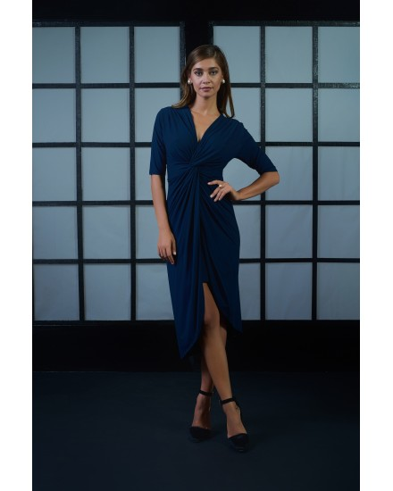GABRIELA DRESS IN NAVY