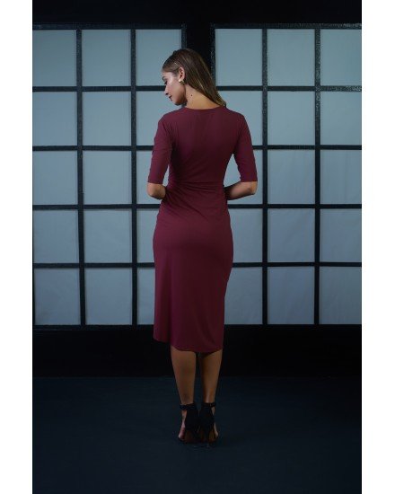 GABRIELA DRESS IN MAROON