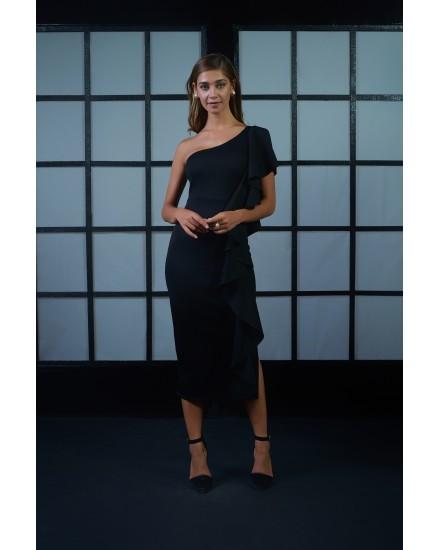 OCTAVIA DRESS IN BLACK