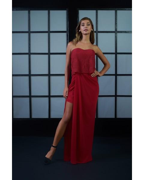 ADELINE DRESS IN RED