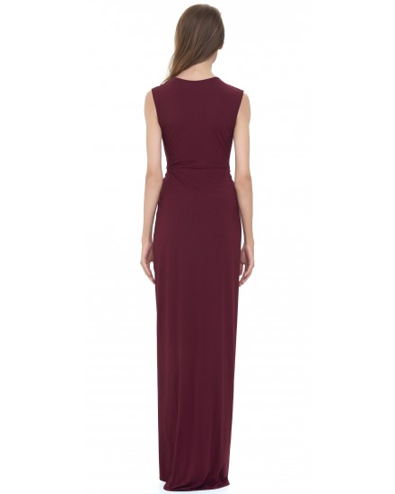 VANESSA DRESS IN MAROON