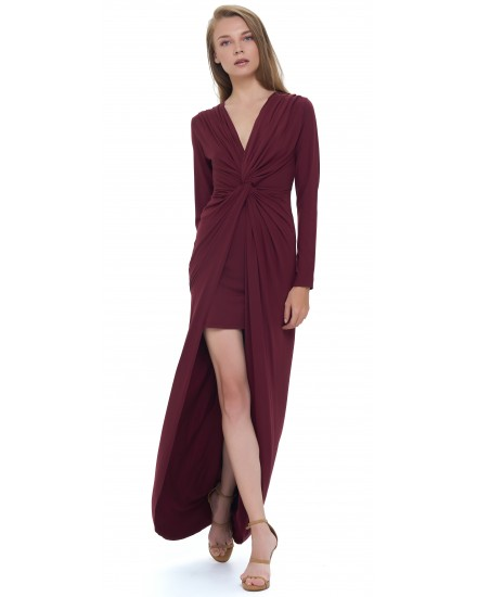 JOYA DRESS IN MAROON