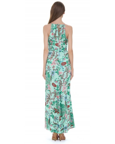 MAJORELLE DRESS IN JARDIN FLORAL GREEN