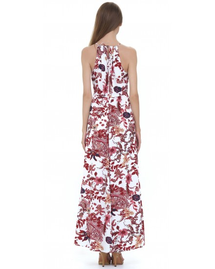 MAJORELLE DRESS IN JARDIN FLORAL MAROON
