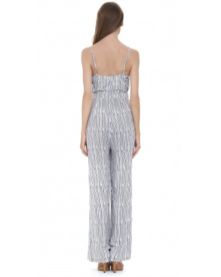PALMERAIE JUMPSUIT IN TOBSIL WHITE BLACK