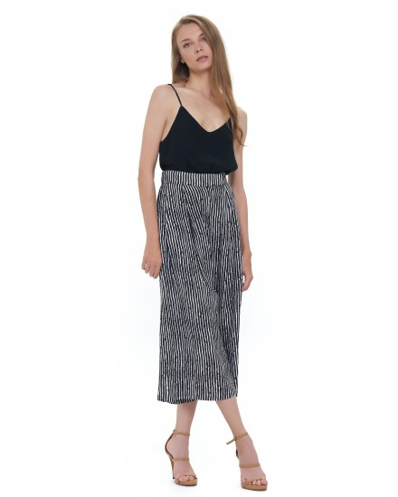 KASBAH CULOTTES IN TOBSIL STRIPES BLACK WHITE