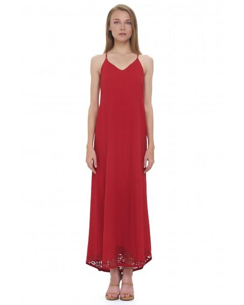 BAHIA DRESS IN MAROON