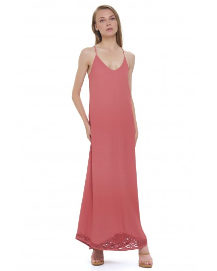 BAHIA DRESS IN TEA ROSE