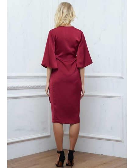 AMAIA DRESS IN MAROON