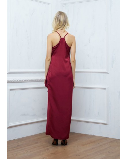 SAGE DRESS IN MAROON