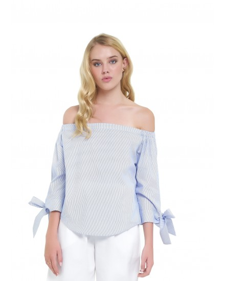 LYDIA TOP IN BLUE STRIPES