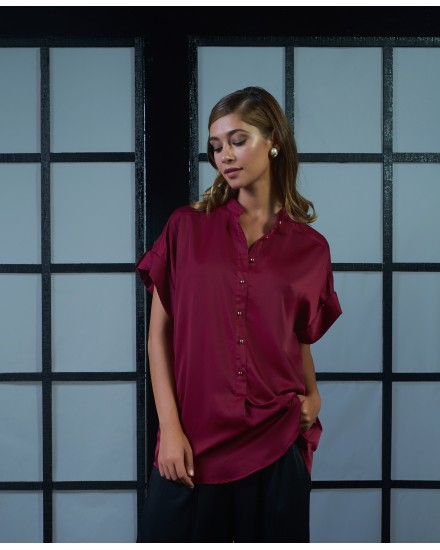 ARIA TOP IN MAROON