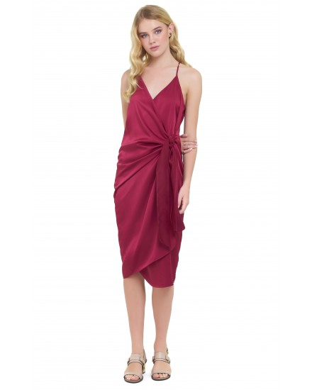 GIANNA DRESS IN MAROON