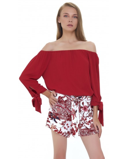DAVIDA TOP IN MAROON