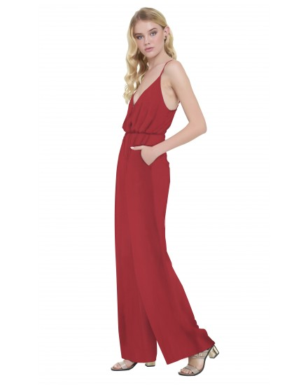 NICOLA JUMPSUIT IN MAROON
