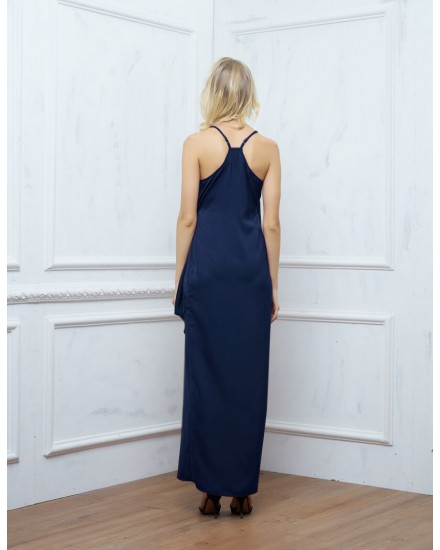SAGE DRESS IN NAVY