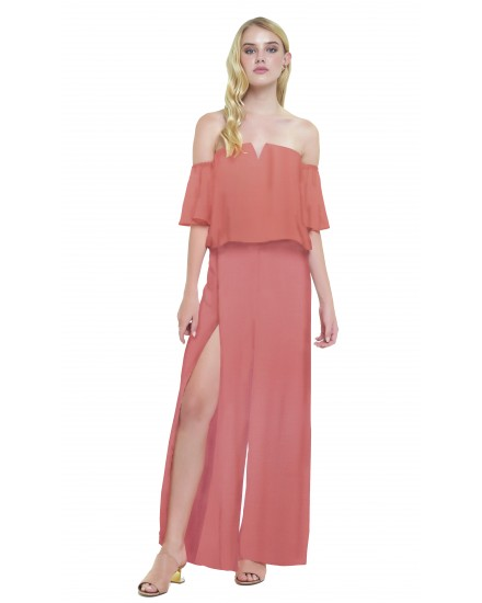 ATRANI JUMPSUIT IN TEA ROSE