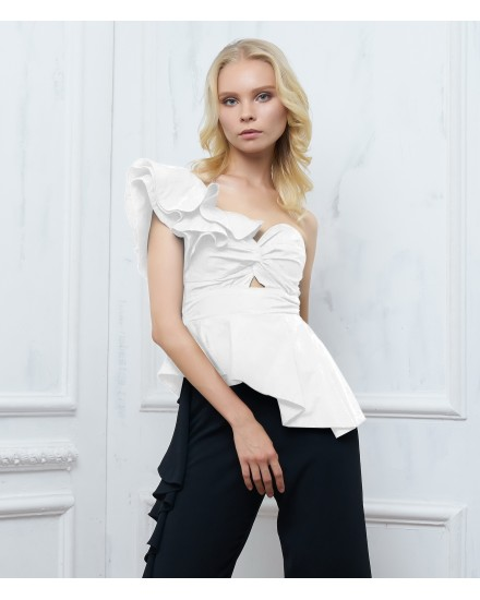 BRIELLA TOP IN WHITE