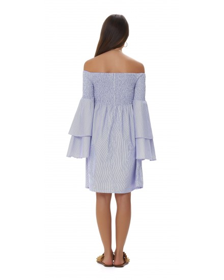 MELANIE DRESS IN BLUE / WHITE STRIPES