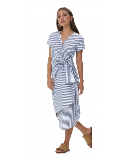 ELENA DRESS IN STRIPES NAVY