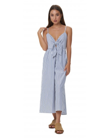 GIA JUMPSUIT IN STRIPES NAVY