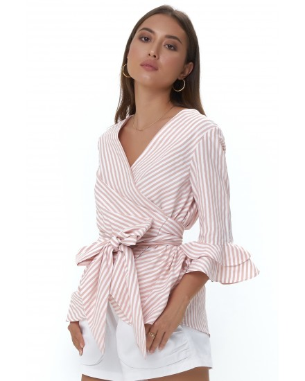 REESE TOP IN STRIPES PEACH