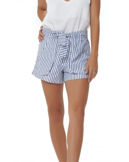 LOLA SHORTS IN STRIPES PEACH