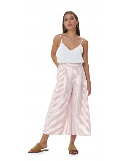 REESE CULOTTES IN STRIPES PEACH