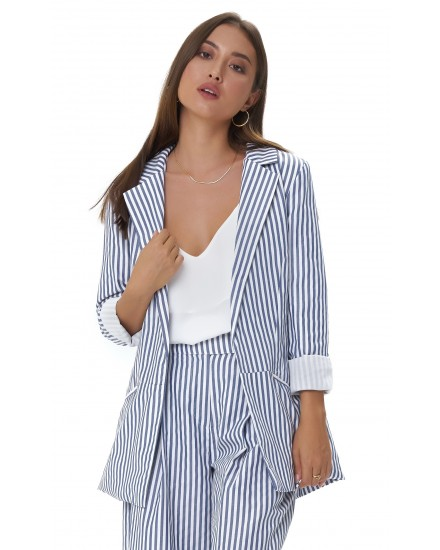 MARGOT JACKET IN STRIPES NAVY