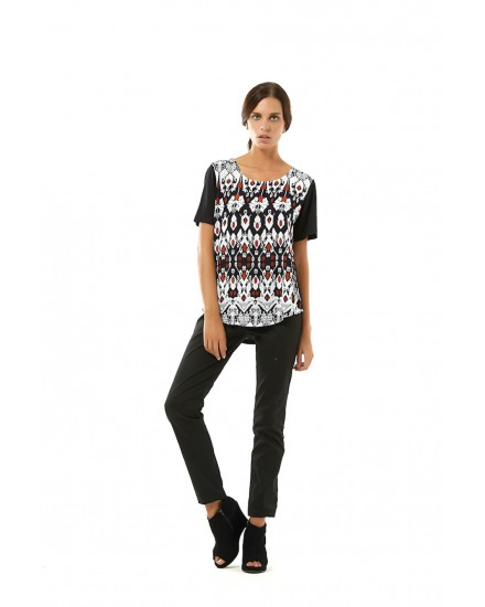 ROTE TEE IN SONGKET/BLACK