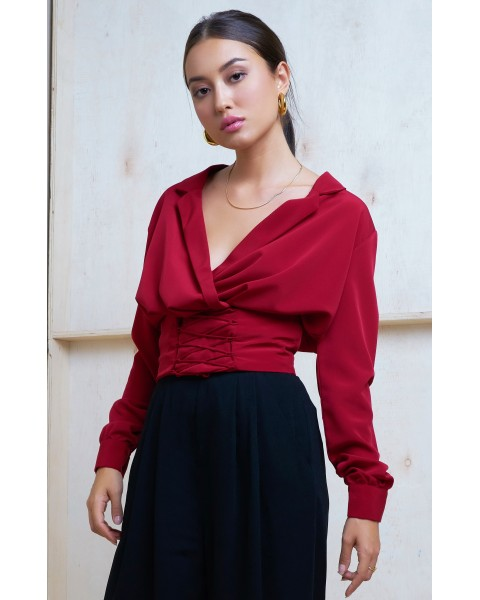 SULTANA TOP IN MAROON