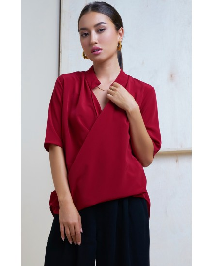 RONELLA TOP IN MAROON