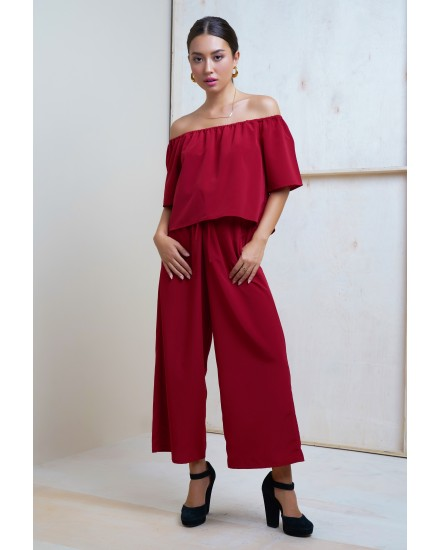 TANAYA JUMPSUIT IN MAROON
