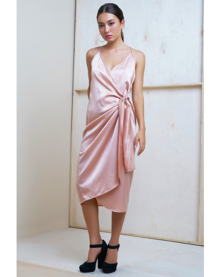 GIANNA DRESS IN CHAMPAGNE