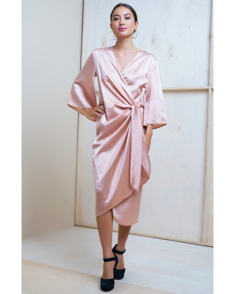 AMAIA DRESS IN CHAMPAGNE
