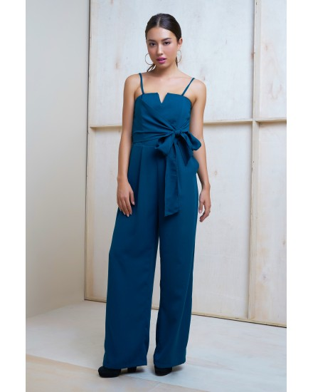 MEGHAN JUMPSUIT IN DARK TEAL