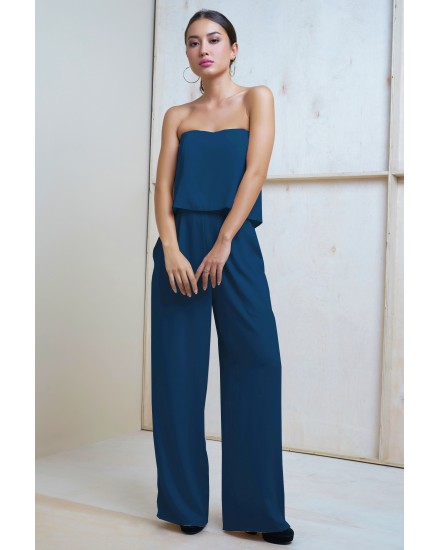 VIVIAN JUMPSUIT IN DARK TEAL