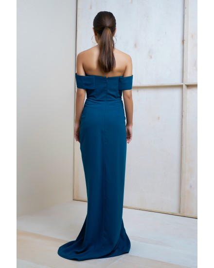 PALOMA DRESS IN DARK TEAL