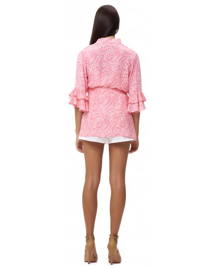 AGATHE ROMPER IN FIRA ROSE
