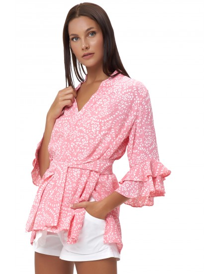 ANEMOS WRAP OUTER IN FIRA ROSE