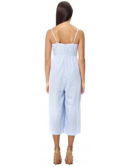 ARTEMIS JUMPSUIT IN LINEN BLUE