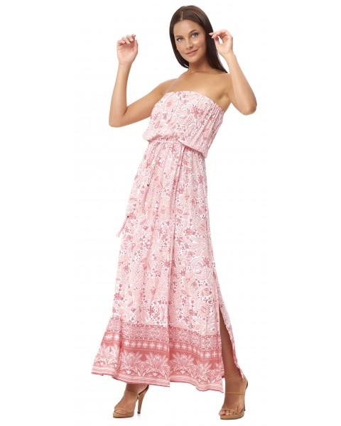 THEODORA DRESS IN APRICOT