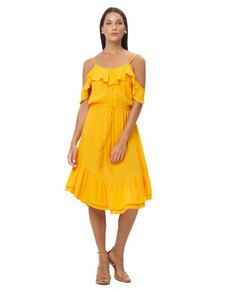 VASILIA DRESS IN APRICOT