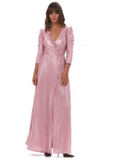 IMOGEN DRESS IN ROSE GOLD